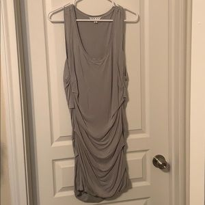 CAbi Tunic Ruched Dress Light Gry Jersey Tank NWOT